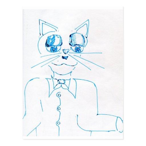 Dapper Felidae Postcard