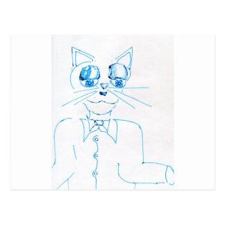 Dapper Felidae Post Card
