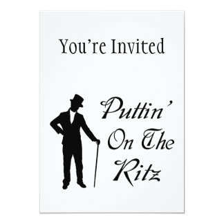 Dapper Man Puttin On The Ritz Card
