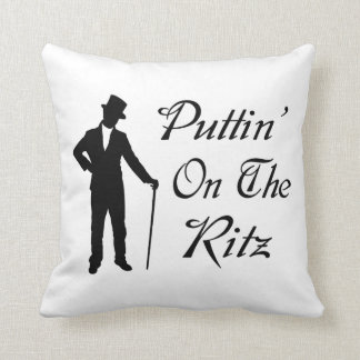 Dapper Man Puttin On The Ritz Throw Pillow