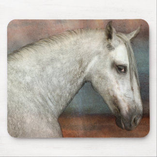 Dapple Gray Andalusian Horse Portrait Mouse Pad