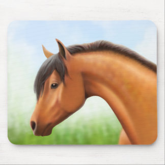 Dappled Bay Arabian Horse Mouse Pad