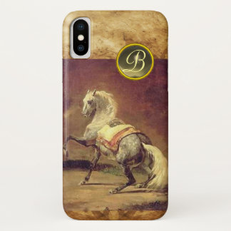 DAPPLED GREY HORSE MONOGRAM iPhone X CASE