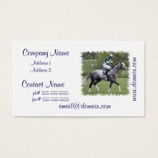 Dappled Grey Race Horse Business Cards
