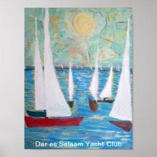Dar es Salaam Yacht Club, Sailing Regatta  Poster