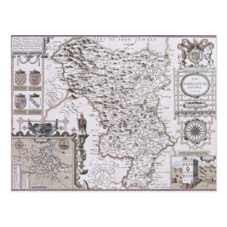 Darbieshire, engraved by Jodocus Hondius Postcard