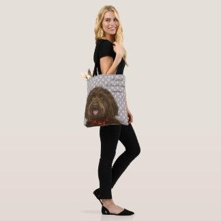 Darcey's Proud Labradoodle mom <3 Tote Bag