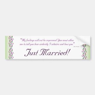 Darcy Just Married Bumper Sticker