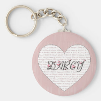 Darcy with Hearts! Keychain