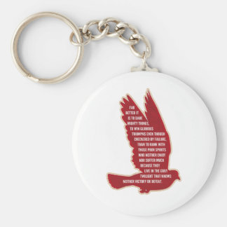 Dare Mighty Things Basic Round Button Keychain