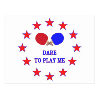 Dare Play Me Ping Pong Postcards