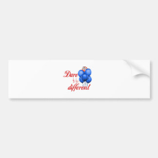 DARE TO BE DIFFERENT - BALLOONS BUMPER STICKER