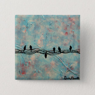 """Dare to be Different"" by Linda Powell~Pin 2 Inch Square Button"