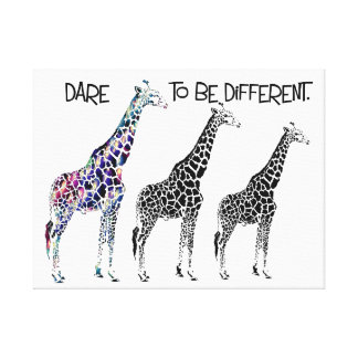 Dare to be different Inspirational art Canvas Print