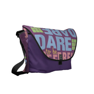 Dare To Be Different messenger bag