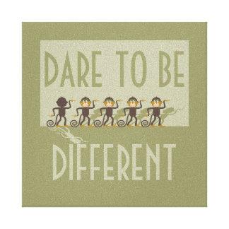 Dare to be different, monkeys, safari canvas print