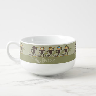 Dare to be different, monkeys, safari soup bowl with handle
