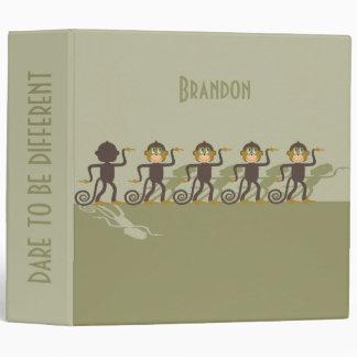 Dare to be different, monkeys, safari vinyl binder