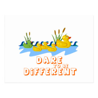DARE TO BE DIFFERENT POSTCARD