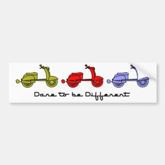 Dare To Be Different Scooter Bumper Sticker