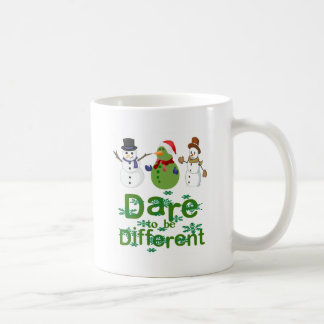 DARE TO BE DIFFERENT - SNOWMEN COFFEE MUG
