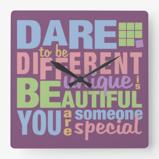 Dare To Be Different wall clock