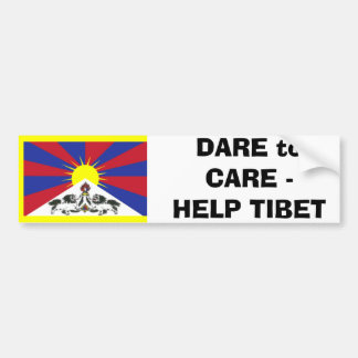 DARE to CARE -HELP TIBET Bumper Sticker