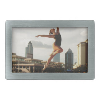 Dare to Dance Rectangular Belt Buckle