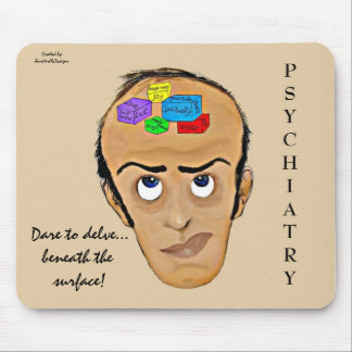Dare to delve-Psychiatry Humor Cartoon Mouse Pad