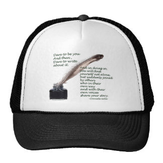 Dare to write trucker hat
