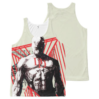 Daredevil Abstract Sketch All-Over-Print Tank Top