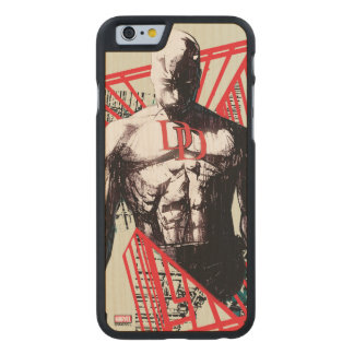 Daredevil Abstract Sketch Carved Maple iPhone 6 Case