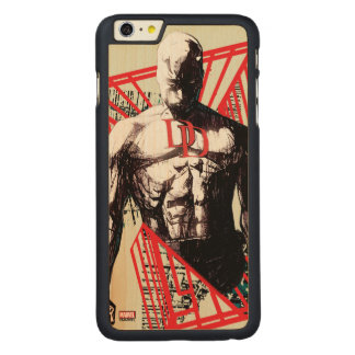 Daredevil Abstract Sketch Carved Maple iPhone 6 Plus Case