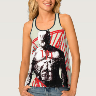 Daredevil Abstract Sketch Tank Top