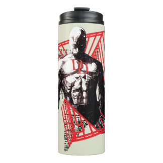 Daredevil Abstract Sketch Thermal Tumbler