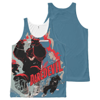 Daredevil Action Graphic All-Over-Print Tank Top