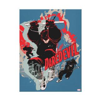 Daredevil Action Graphic Canvas Print