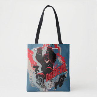 Daredevil Action Graphic Tote Bag