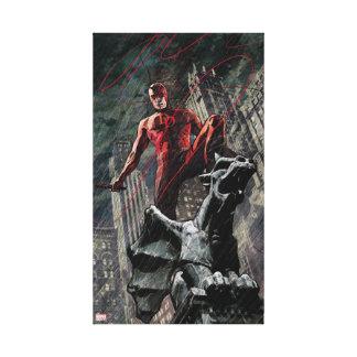Daredevil Atop A Gargoyle Canvas Print