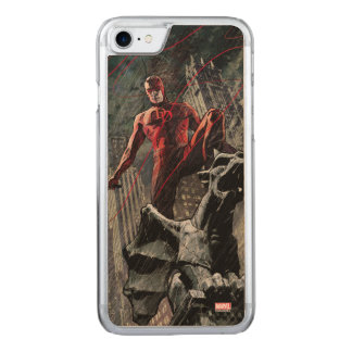Daredevil Atop A Gargoyle Carved iPhone 8/7 Case