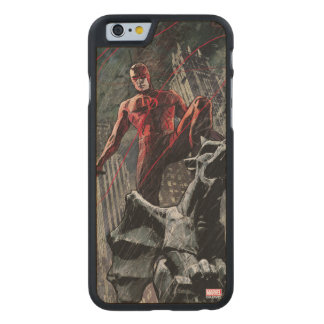 Daredevil Atop A Gargoyle Carved Maple iPhone 6 Case