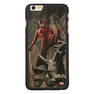Daredevil Atop A Gargoyle Carved Maple iPhone 6 Plus Case
