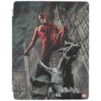 Daredevil Atop A Gargoyle iPad Cover