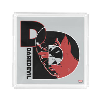 Daredevil Face In Logo Acrylic Tray