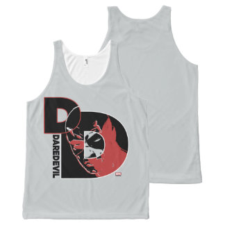 Daredevil Face In Logo All-Over-Print Tank Top