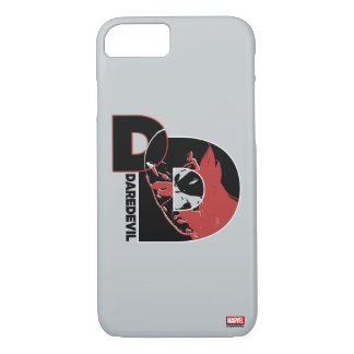 Daredevil Face In Logo iPhone 8/7 Case