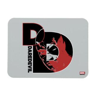 Daredevil Face In Logo Magnet