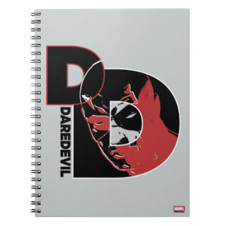 Daredevil Face In Logo Notebooks