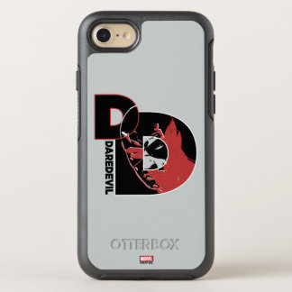 Daredevil Face In Logo OtterBox Symmetry iPhone 8/7 Case
