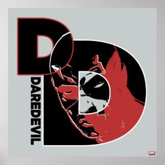 Daredevil Face In Logo Poster
